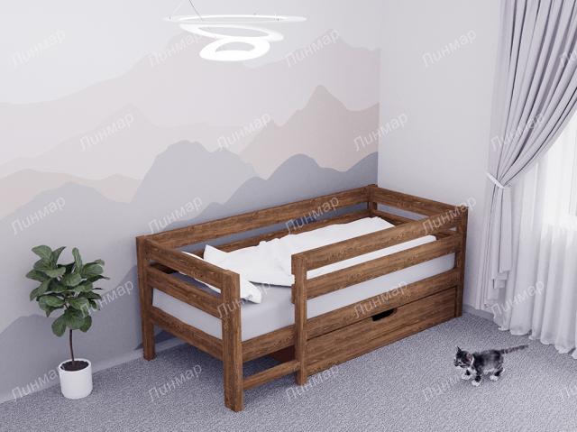 Детская кровать ПАНДА, массив