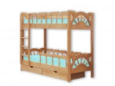 Двухъярусная кровать Штурвал Массив