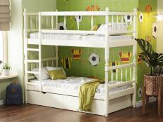 Кровать 2-х ярусная с фигурными спинками