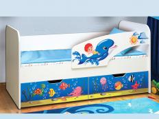 """Кровать детская """"Дельфин"""" фотопечать"""