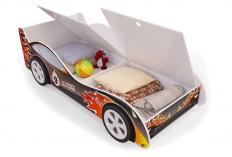 Кровать-машина «Пламя» с ящиками